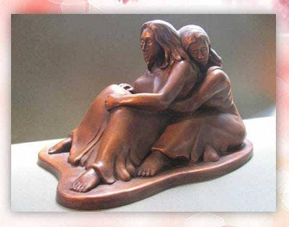 Sculpture FemmesDeux En GayLesbiennes Même Bronze Femmes Sexe Mariage CoupleCadeau De PrésenteLes Du Amateurs DH29IE