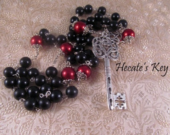 Pagan Prayer Beads, Hecate's Key Witches Rosary