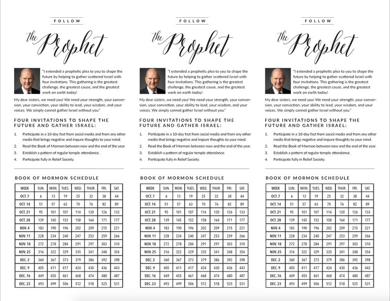 graphic relating to President Nelson Challenge Printable called President Nelson 4 Invites, Overall Meeting Oct 2018, Guide of Mormon Studying Chart and Plan, 12 months, Flyer, Printable