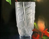 Lalique Liseron Vase Signed and Guaranteed Authentic - 9.25 quot Tall MINT
