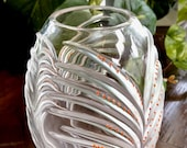 Lalique Chamarel Vase Orange Enamel Decorations Mint Condition Signed Authentic