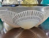 Large 8.25 quot Lalique Opalescent Coquilles Bowl Signed R Lalique Guaranteed Authentic Model 3201