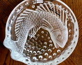 Lalique France Crystal KOI FISH 6 Bowl (Concarneau in French) (Cigar Ashtray) MINT signed authentic