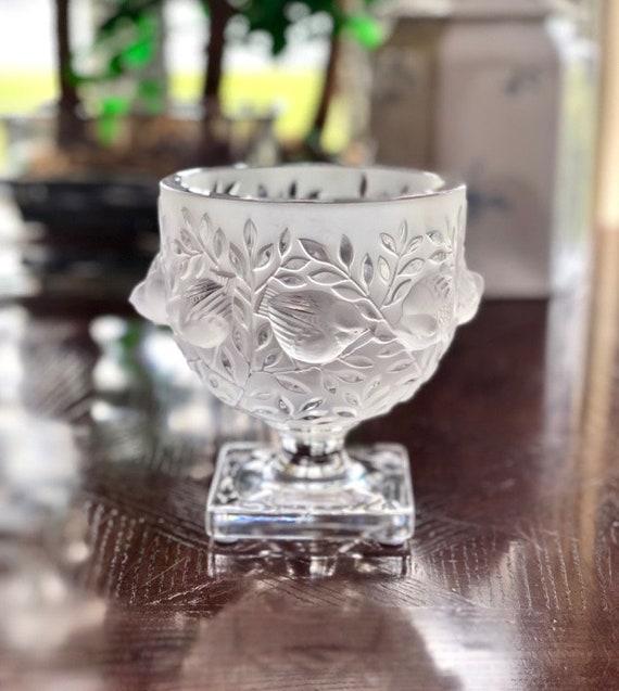 Lalique Elizabeth Vase In Mint Condition Signed Authentic Etsy