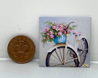HANDMADE MINIATURE DOLLS HOUSE ACCESSORY CANVAS STYLE WALL ART PICTURE PURFUME