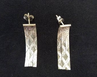 Sterling Silver .925 Dangle Earrings. New old stock. Gifts for Her.