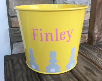 5 quart Personalized Easter Buckets/Pails; Metal Buckets