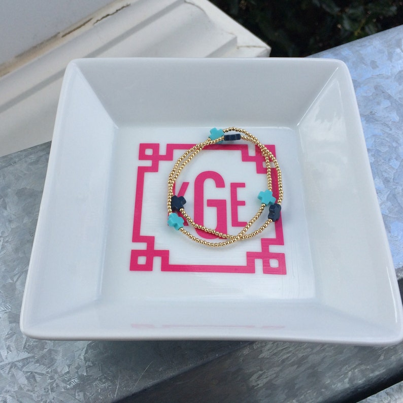 Large Square Monogrammed Jewelry Dish Perfect for ...