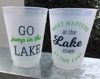 Lake 16oz Frosted Flex Shatterproof Cups; Shatterproof Cups (reusable)