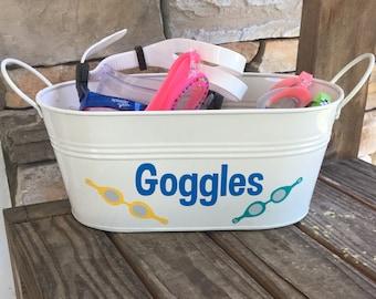 Goggles Storage; Goggles Bucket; Home Storage Bucket; Storage bucket