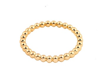 aac22a432a926b Gold Filled Ring, Gold Ball Ring, Gold Bead Ring, Gold Infinity Ring, Thin  Band Ring, Thin Stacking Ring, Gold Stacking Rings