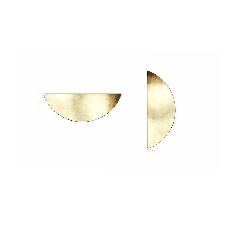 Crescent Moon Pendant Round Moon 1 Pc Geometric Jewelry Charm Jewelry Supplies Half Circle Charm Laser Cut Charms No Holes Charm