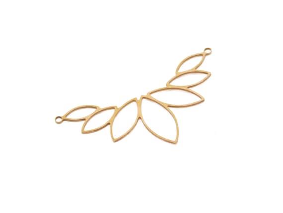 Brass Lotus Pendant, 1 Pc, Large Lotus Pendant, Big Lotus Connector, Large Flower Pendant, Floral Raw Brass Pendant, Laser Cut Findings