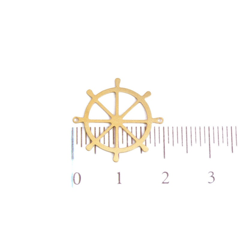 Bracelet Charm Ocean Jewelry Gold Helm Charm Ship Wheel Pendant Nautical Jewelry Steering Wheel Pendant Boat Wheel Charm 1 PC