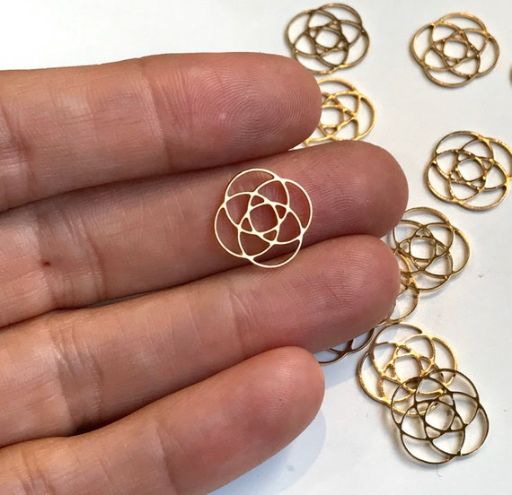 Ikigai Circle Pendant, 2 PCs, SpirItual Jewelry, Geometric Pendant Jewelry, Laser Cut Jewelry, Wholesale Pendants, Supplies