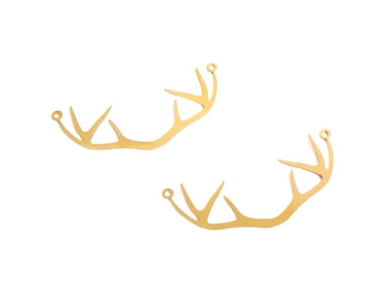 Exclusive at Goldie Supplies Gold Antler Pendant Silver Oxide Pendant Mountain Pendant 10 Pcs