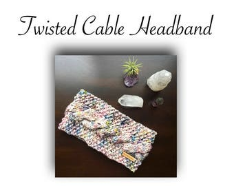 Twisted Cable Headband  | Instant Download | PDF Knitting Pattern | Easy & Beginner Level