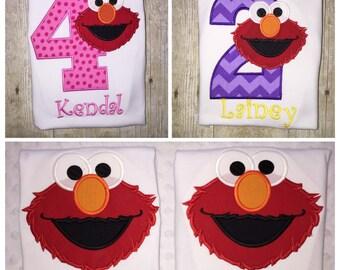 Elmo Birthday Shirt Boys Birthday Shirt