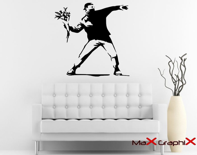 Naklejka Banksy 27 X 28 Molotowa Facet Etsy