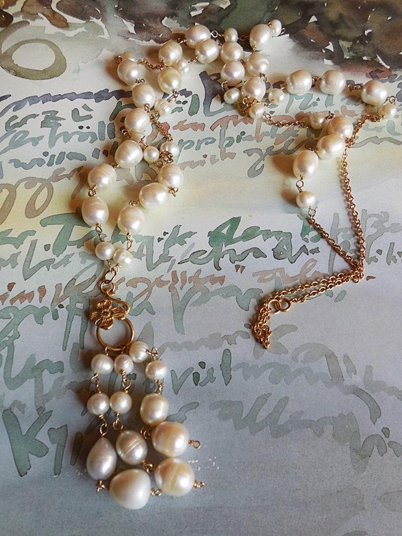 2ae864c08156 Collar extra largo 110 cm. de Perlas de agua dulce collar de