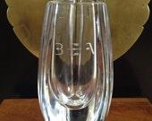 Baccarat quot Bouton D 39 or quot Crystal Vase Initialed quot BEA quot