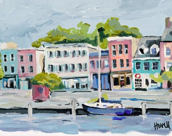 "Fells Point, 13"" x 19"" Signed Large Print of Original Acrylic Painting"