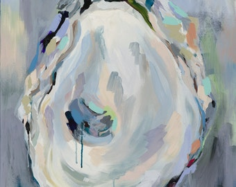 "Shell II, 8.5"" x 11"" Signed Large Print of Original Acrylic Painting in 11"" x 14"" mat"