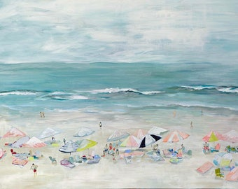 Silver Sands, 13x19 Signed Large Print of Original Acrylic Painting