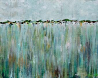 Eastern Shore Horizon, 13x19 Signed Large Print of Original Acrylic Painting