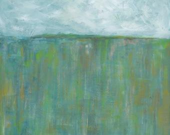 Blue Horizon, 13x19 Signed Large Print of Original Acrylic Painting