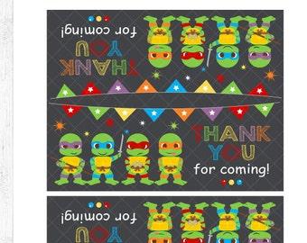 Ninja Turtles Favor Bag Labels 3c2286d1eac6b
