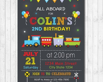 Choo Train Invitation Digital Printable