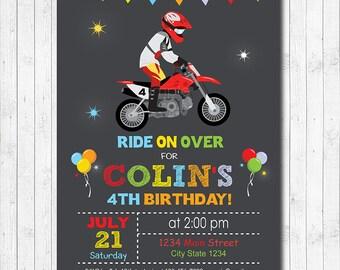 Motocross Birthday Invitation Digital Printable
