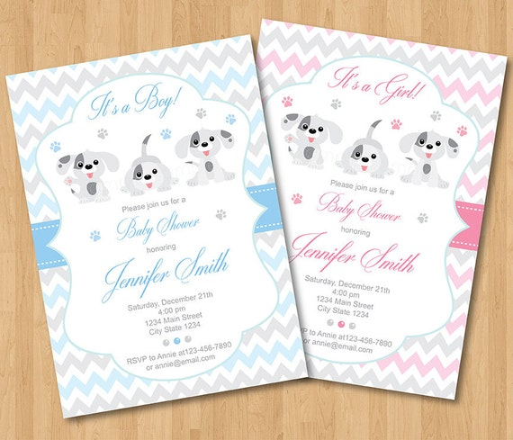 Puppies baby shower invitation puppy invitation puppies filmwisefo