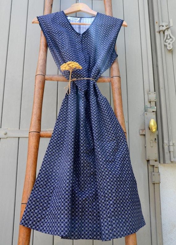 apron 1950 vintage French work dress