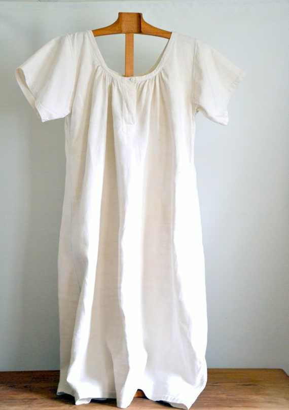 19th French primitive linen dress