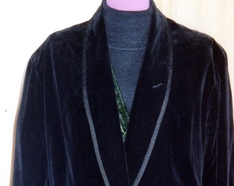 OSCAR WILDE braided black velvet jacket