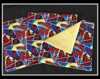 Spiderman Kid /Adult Washcloths Set of 3