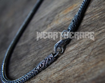 Viking Norse  Silver Chain with  Terminals