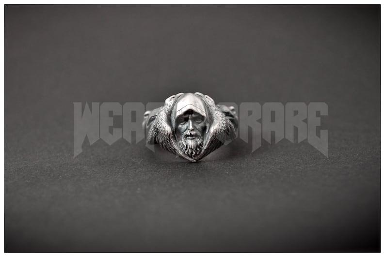 Norse Odin Viking Ring Scandinavian Norse Jewelry Raven Wolf image 0