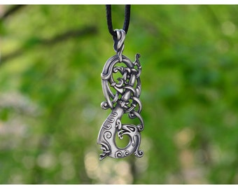 Viking Norse  Charm  The Ringerike Dragon Scandinavian Necklace Norse Jewelry