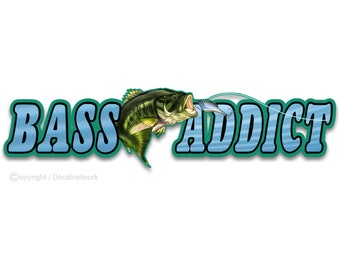Bass Boat Decals Etsy