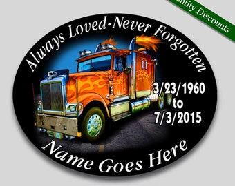 trucker memorial etsy