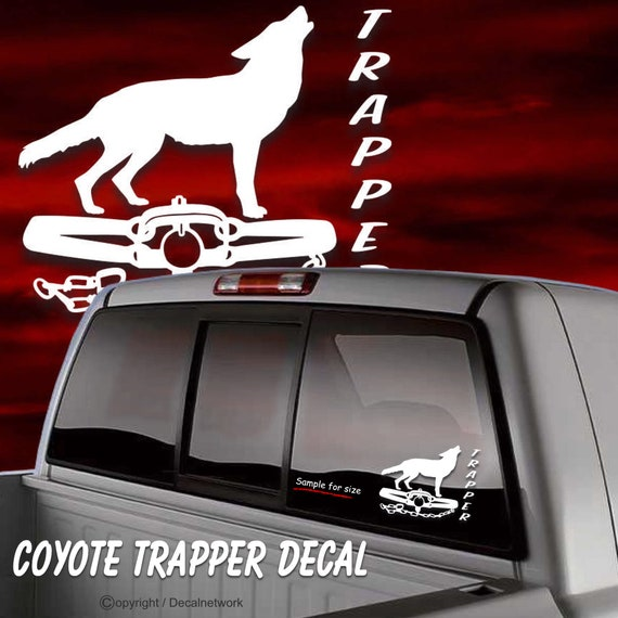 Trapper Trap Sportsman Car Window Vinyl Decal Sticker