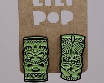 Stud earrings Tiki mugs Lili0620 reclaimed plastic Lilipop