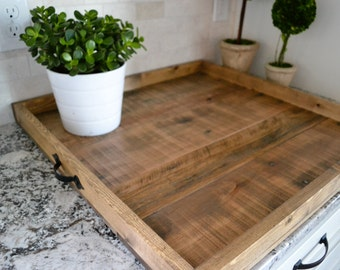 """XLG 24x24"""" Ottoman Tray, Reclaimed Wood, Coffee Table Tray, Large Tray, Wooden Tray, Pallet Tray, Rustic Coffee Table Tray, Tray, Wood Tray"""