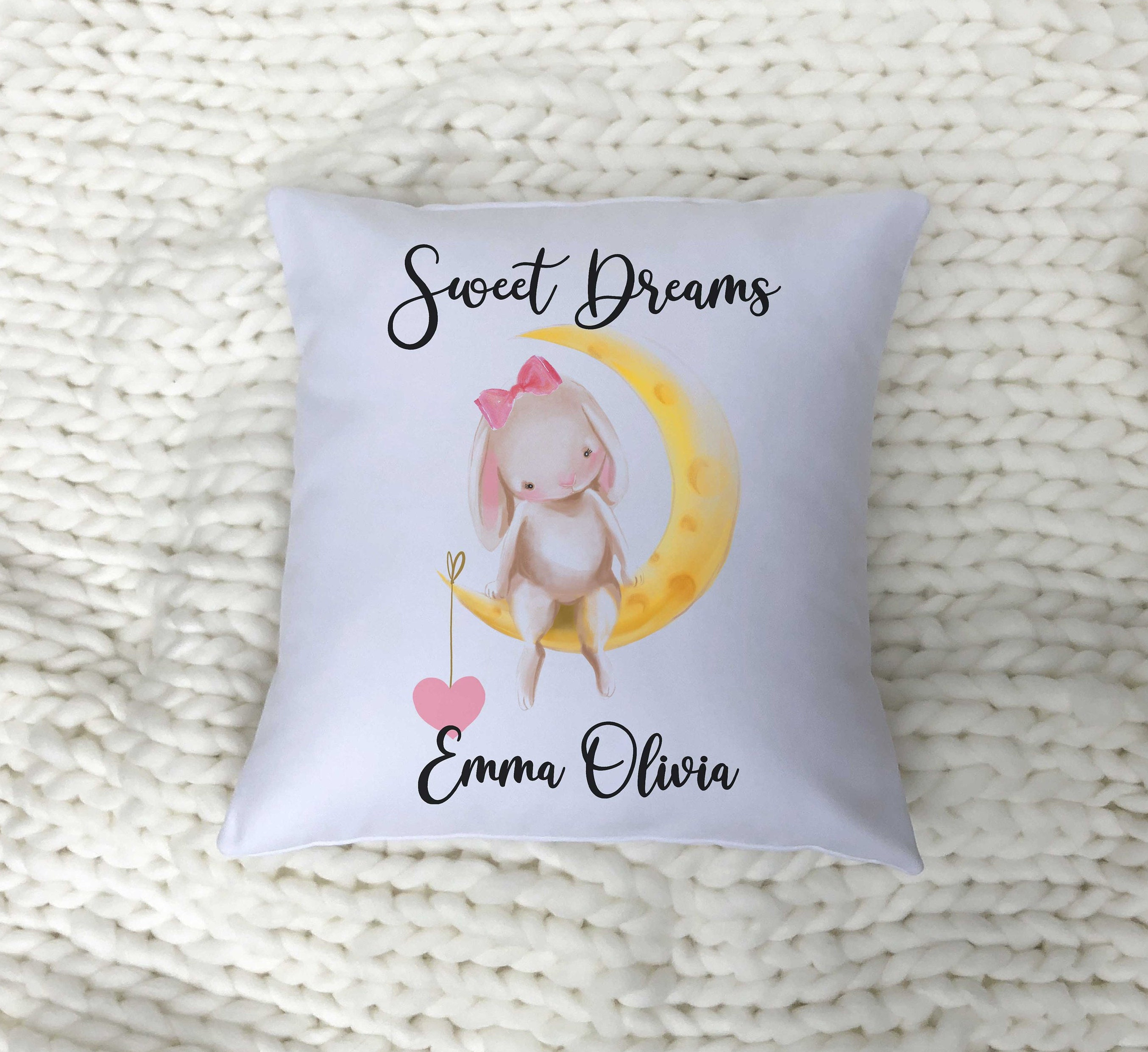 5ee30161de77b Baby Girl Gift / Personalized Baby Girl Pillow / Nursery Decor / Best  Selling Items / Custom Baby Girl Gift