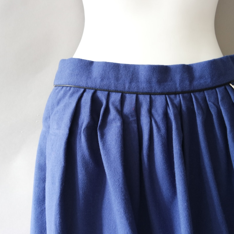 Royal Blue Pure Wool Skirt Size Small