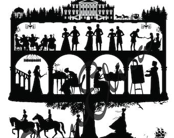 Jane Austen Collage Digital Download