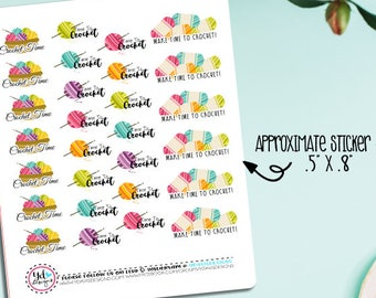 Crochet Planner Stickers! Perfect for all size planners! Will Fit Erin Condren, Kikki K, Inkwell Press, Happy Planner etc.